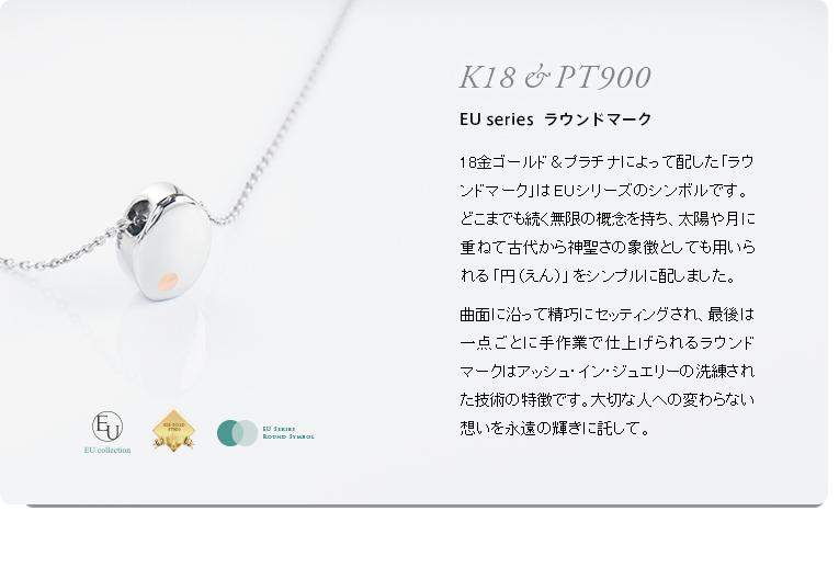 アッシュインペンダント EU-002A イニシャルモデル ステンレス製 [防水仕様遺骨ペンダント]