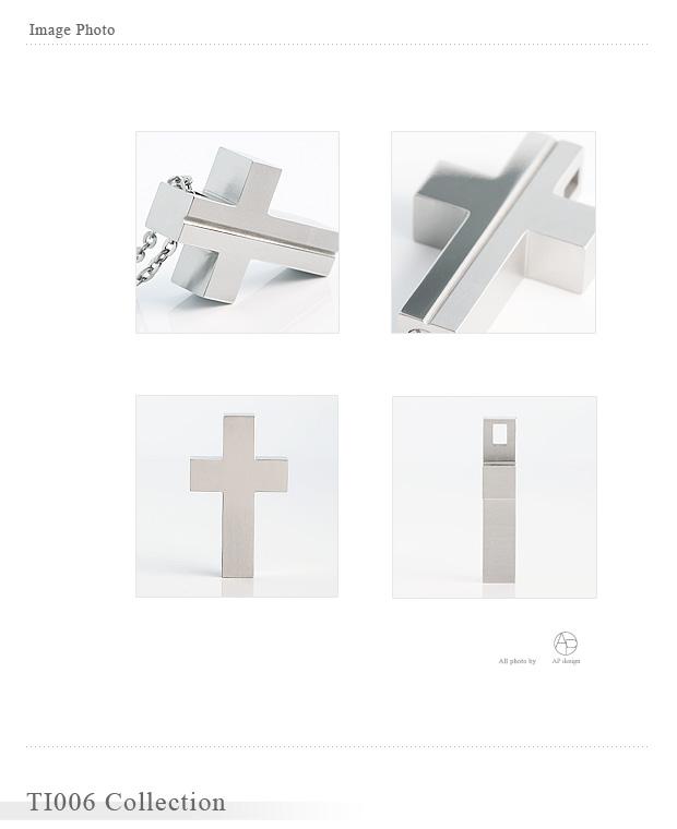 遺骨ペンダント アッシュイン 防水仕様 TI0061 純チタン製 クロス型