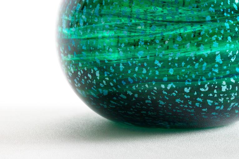 ミニ骨壷 アートガラス骨壷 翠音 - SUION Mサイズ