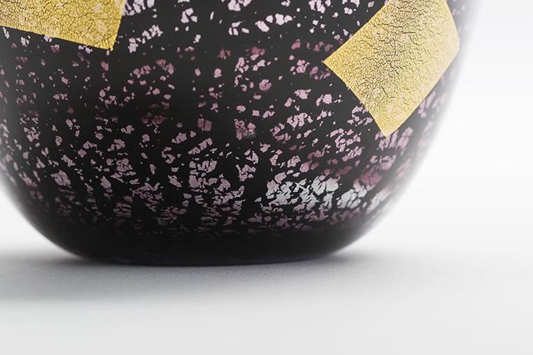 ミニ骨壷 アートガラス骨壷 紫音 - SHION Lサイズ