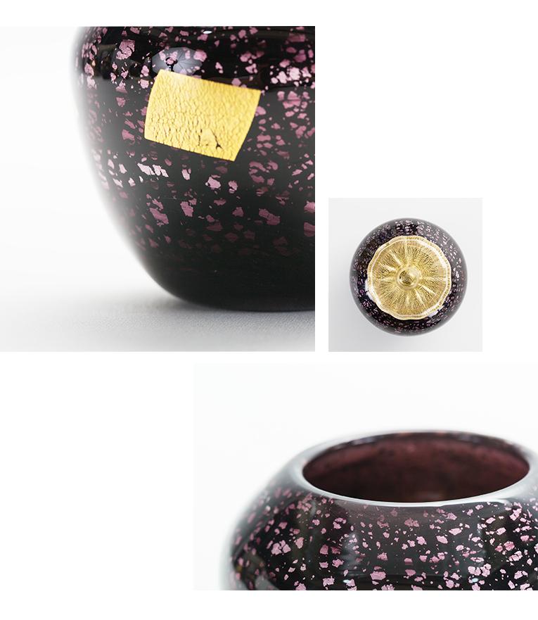 ミニ骨壷 アートガラス骨壷 紫音 - SHION Sサイズ