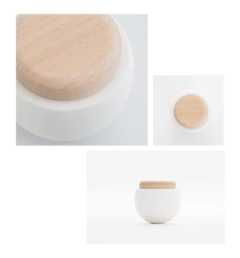 ミニ骨壷 陶器のお骨壷 ゆりかご ナチュラル 分骨用ミニ骨壷