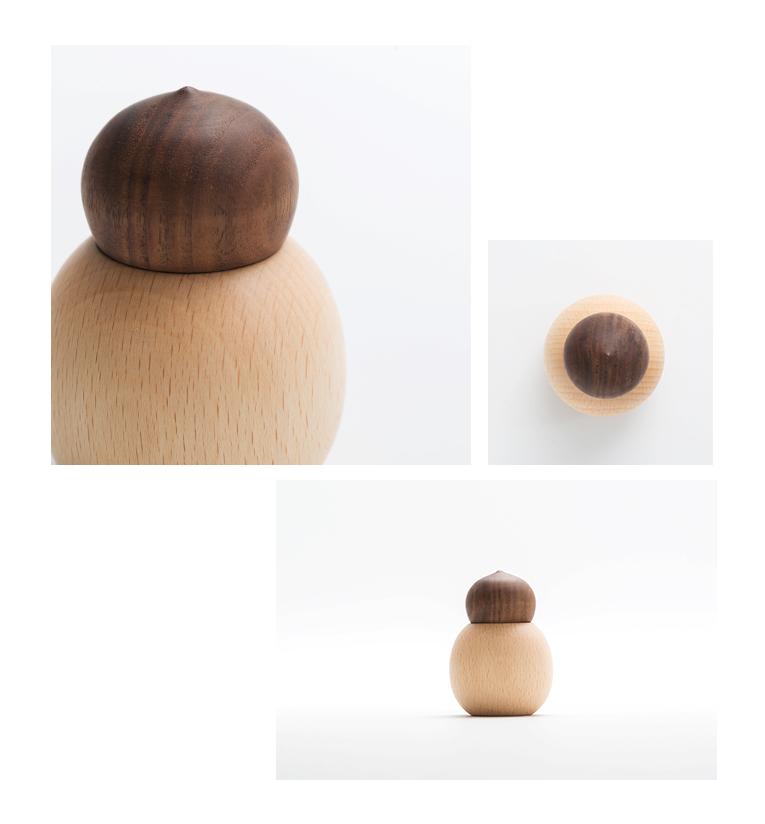 ミニ骨壷 持ち運べる木のお骨壷 tumiki-つみき YT-N02 ウォールナット