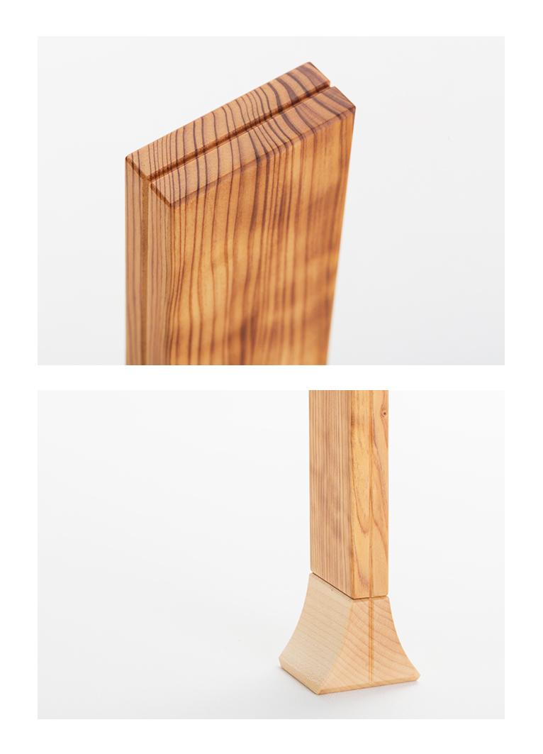 森の位牌 3.5寸 ヤクスギ 限定銘木・天然木