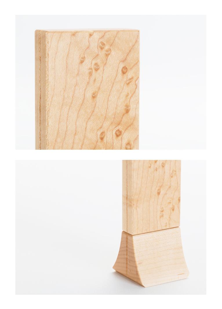 森の位牌 3.5寸 バーズアイメープル 限定銘木・天然木
