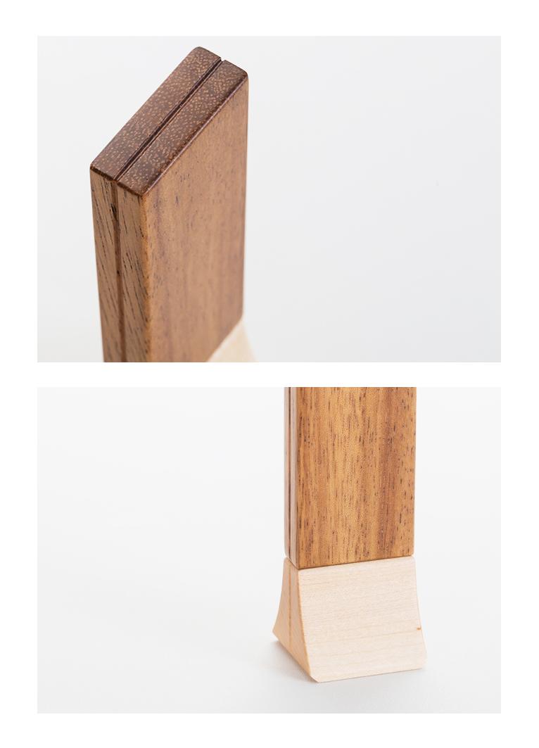 森の位牌 3.5寸 モンキーポッド 限定銘木・天然木