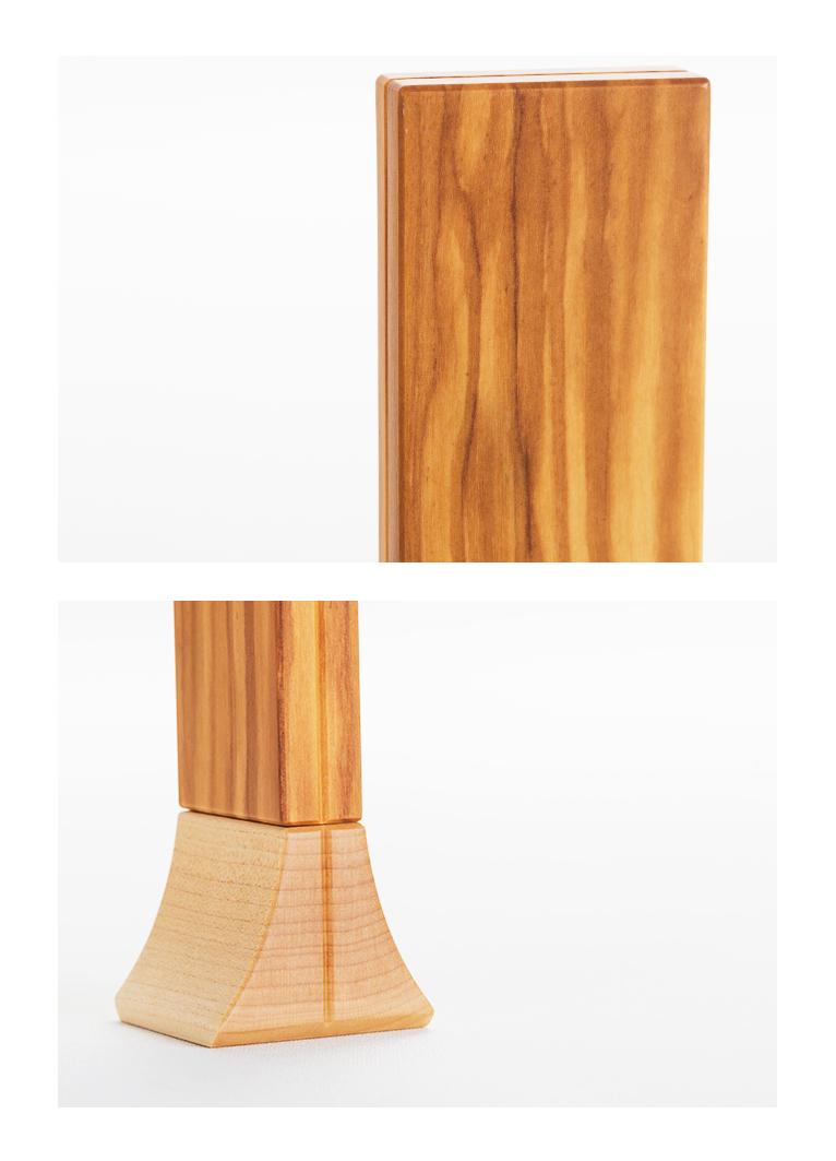 森の位牌 3.5寸 オリーブ 限定銘木・天然木