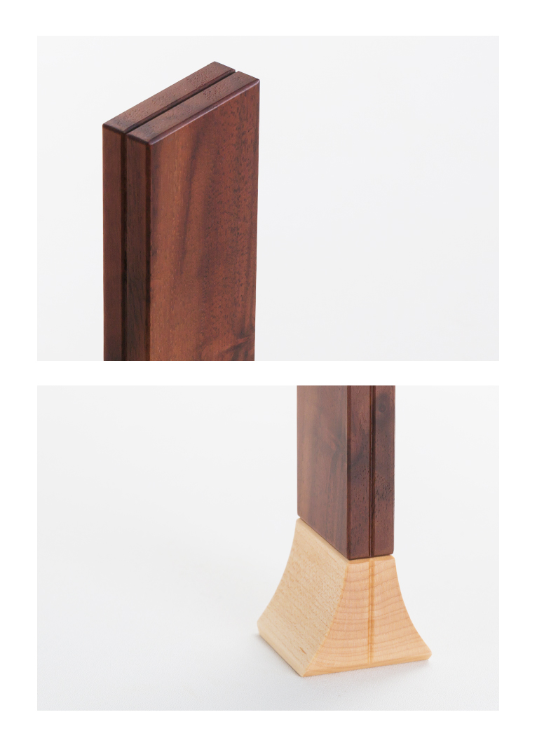 森の位牌 3.5寸 クラロウォールナット 限定銘木・天然木