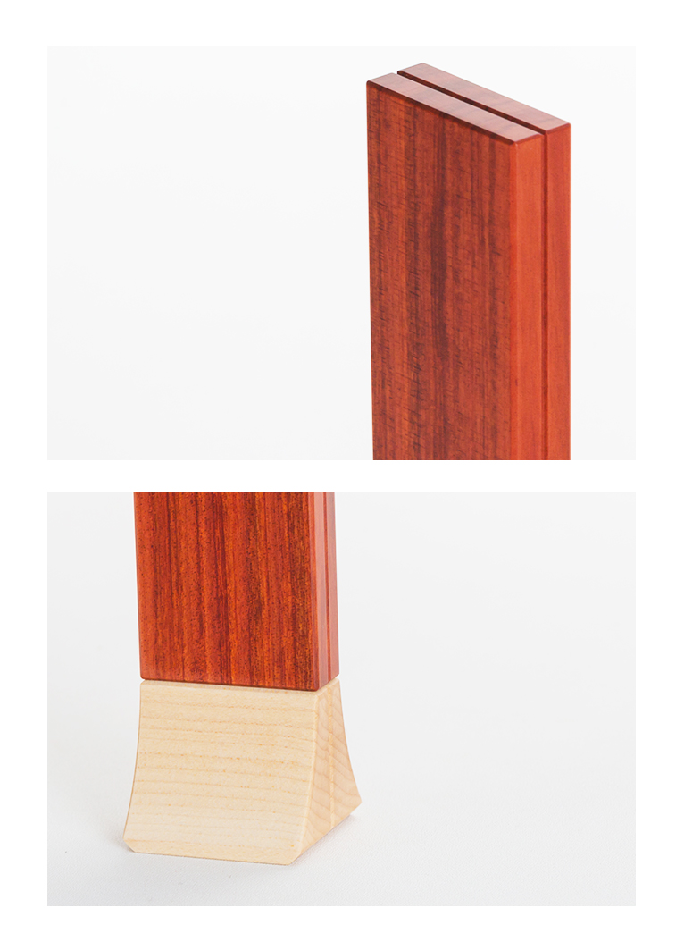 森の位牌 3.5寸 レッドハート 限定銘木・天然木
