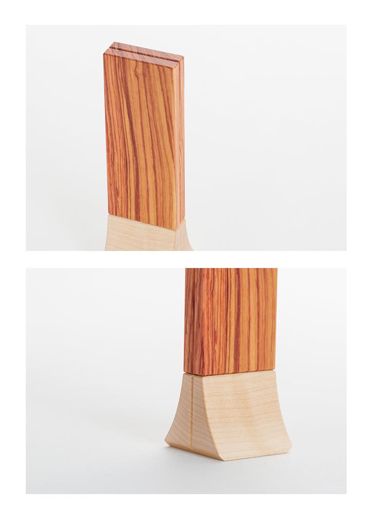 森の位牌 3.5寸 チューリップウッド 限定銘木・天然木