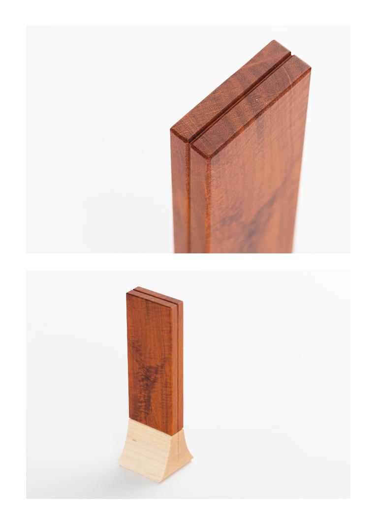 森の位牌 3.5寸 フェルナンブーコ 限定銘木・天然木