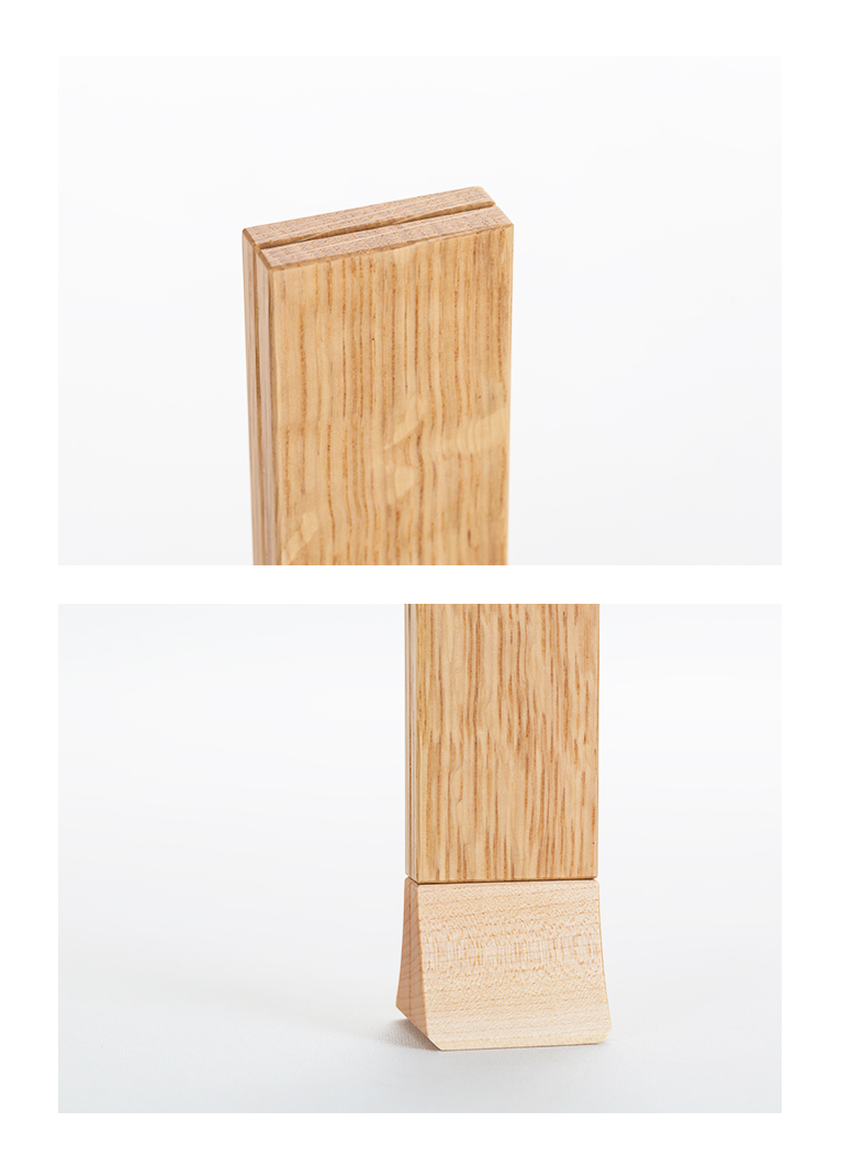 森の位牌 3.5寸 ホワイトオーク 限定銘木・天然木