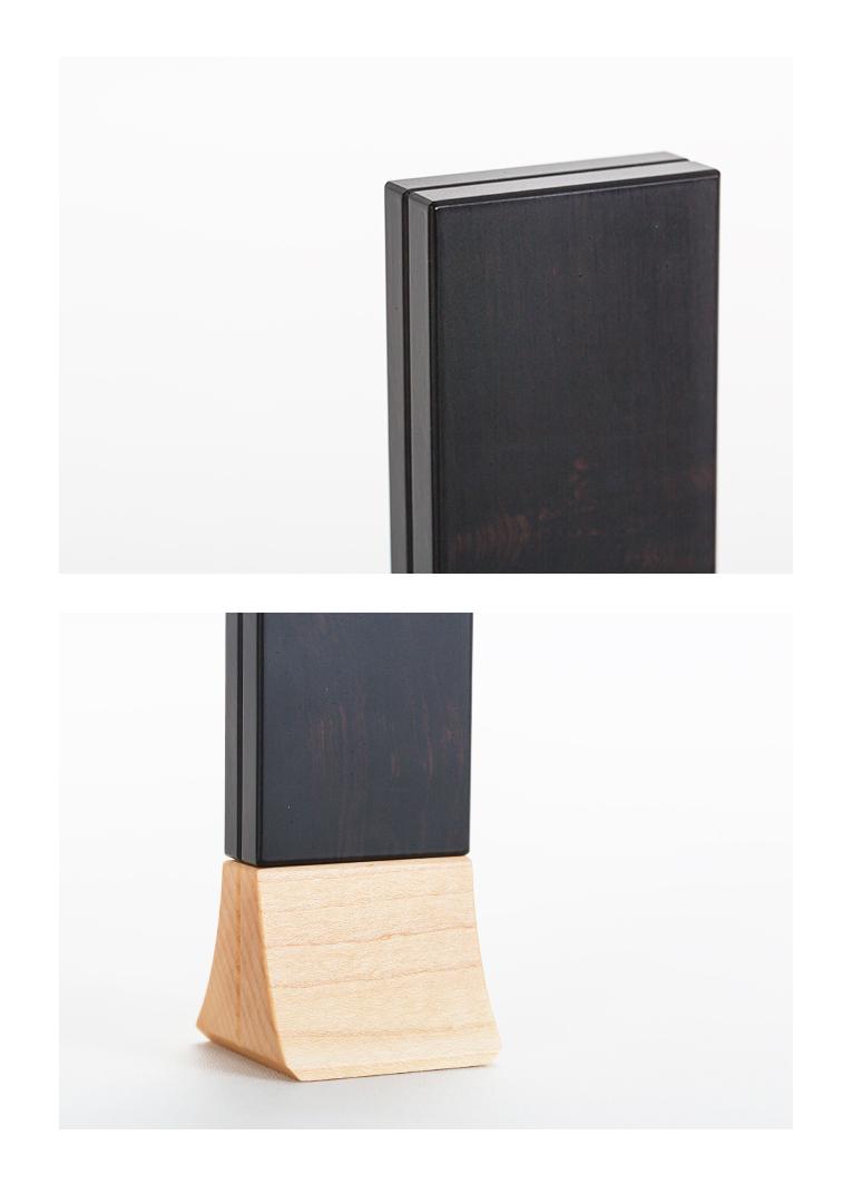 森の位牌 3.5寸 青黒檀 限定銘木・天然木
