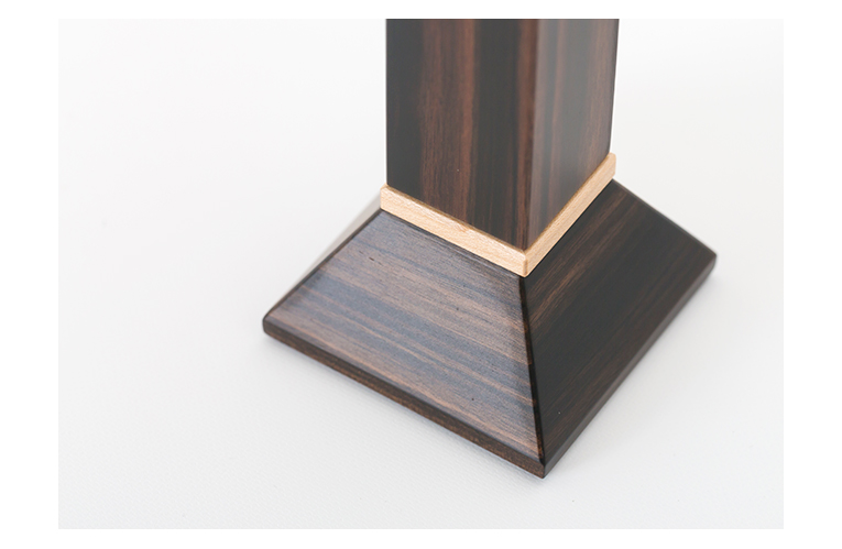 ましかくの位牌 3.5寸 黒檀 納骨できるお位牌 限定銘木 商品写真
