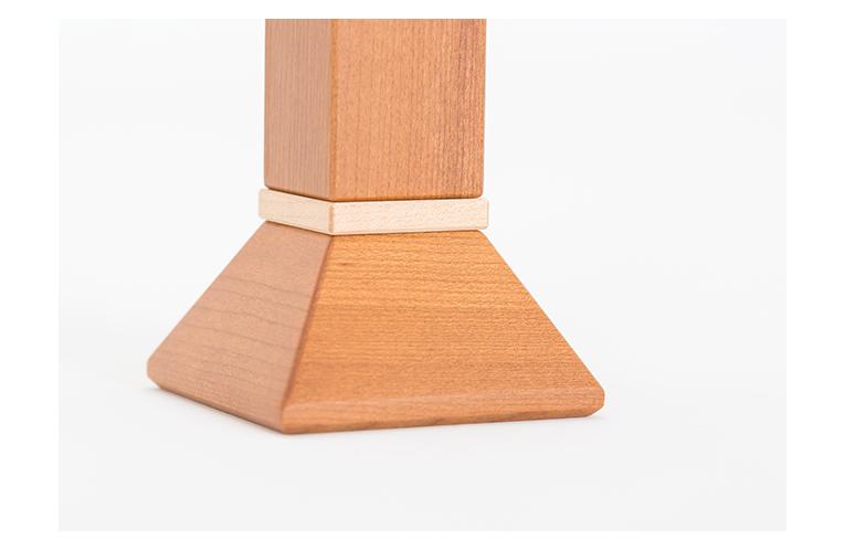 ましかくの位牌 3.5寸 シュリ桜 納骨できるお位牌 限定銘木 商品写真