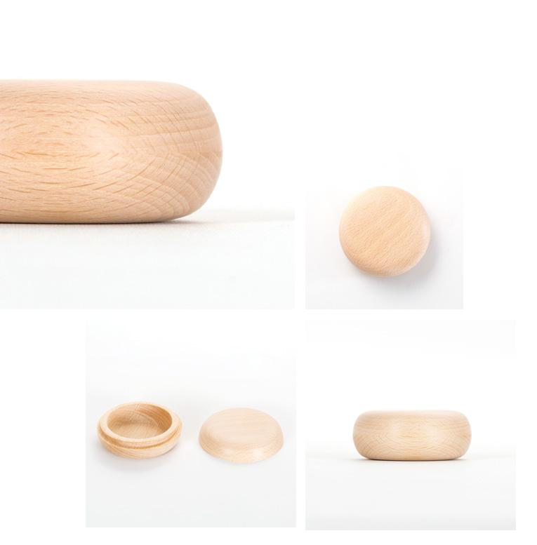 ミニ骨壷 持ち運べる木のお骨壷 iroha-いろは [ナチュラル|無垢仕上げ]