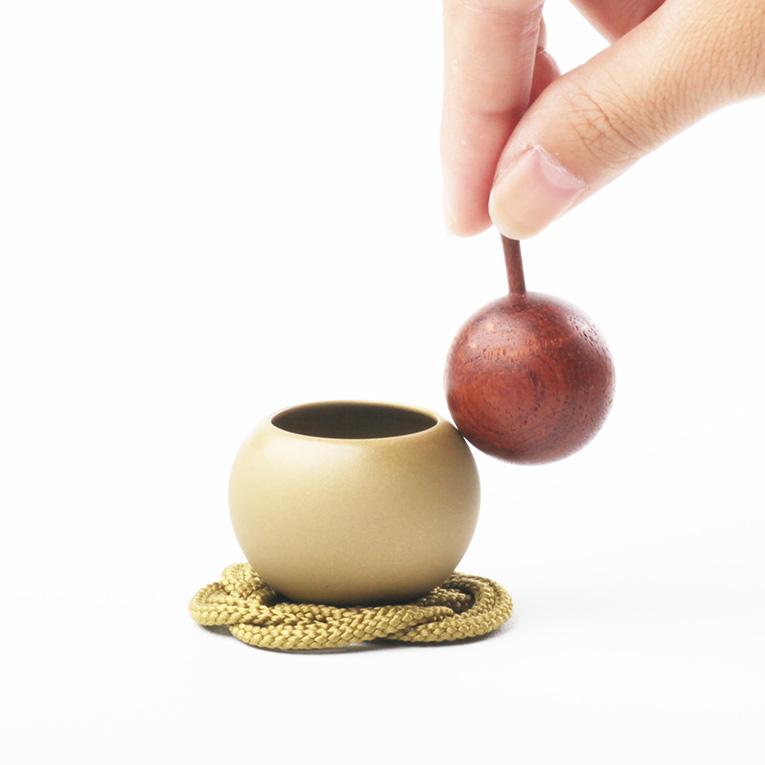 仏具おりん ペアりん(pear)ゴールド