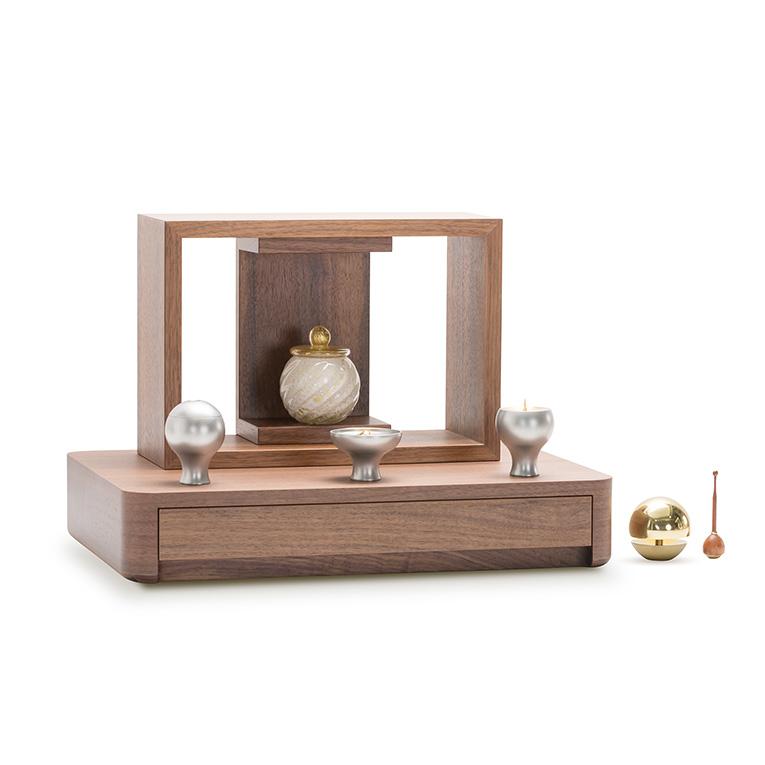 A4仏壇(エーヨン仏壇) A4-001WL ウォールナット [A4サイズのお仏壇]