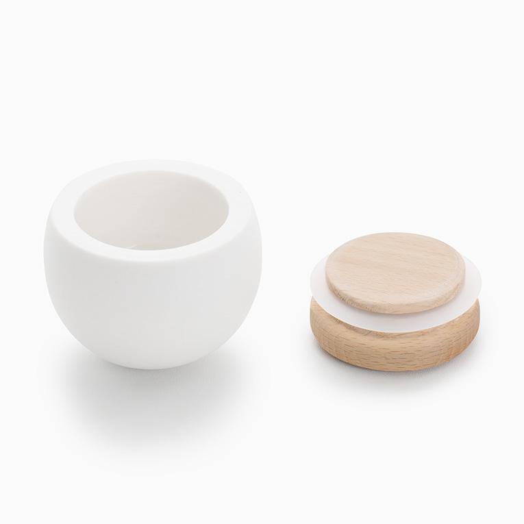 ミニ骨壷 陶器のお骨壷 ゆりかご ウォールナット 分骨用ミニ骨壷
