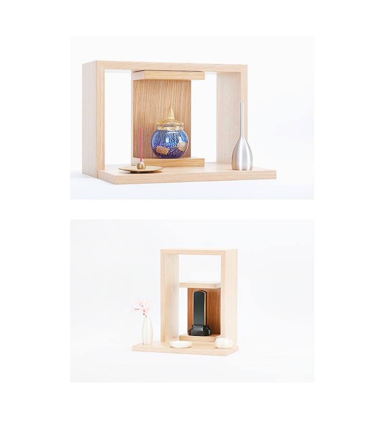 ミニ仏壇 A4仏壇(エーヨン仏壇) A4-001WH ホワイトオーク [A4サイズのお仏壇]