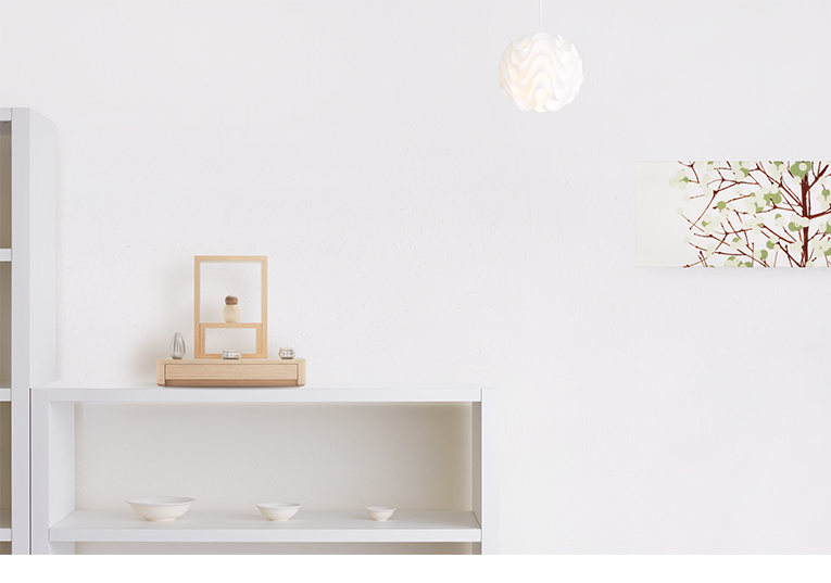ミニ仏壇 A4仏壇 A4-001WH ホワイトオーク 専用ステージ台WHセット [A4サイズのお仏壇]