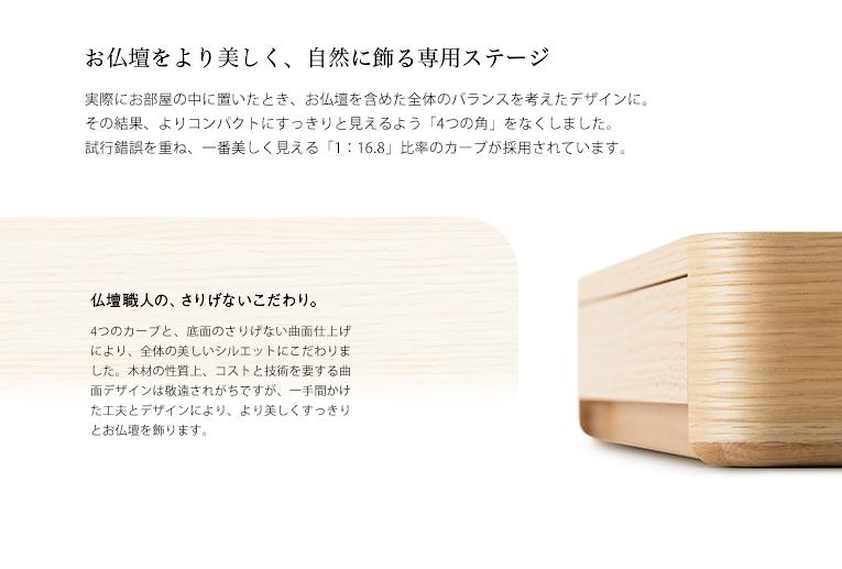 ミニ仏壇 A4仏壇 A4-006GR グリーン 専用ステージ台WHセット [A4サイズのお仏壇]
