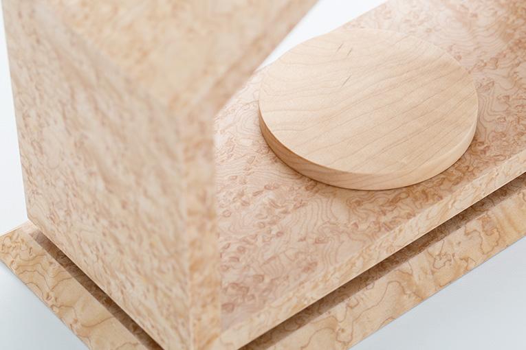 質感と素材のイメージ おうち ワイド310 バーズアイメープル 限定モデル