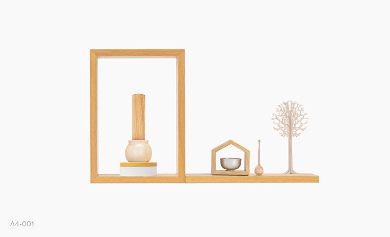 まあるい小箱80 カヤ 仏壇・仏具組み合わせイメージ